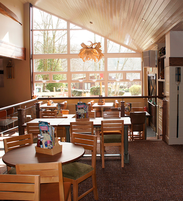 Interior shot of The Boathouse, White Cross Bay