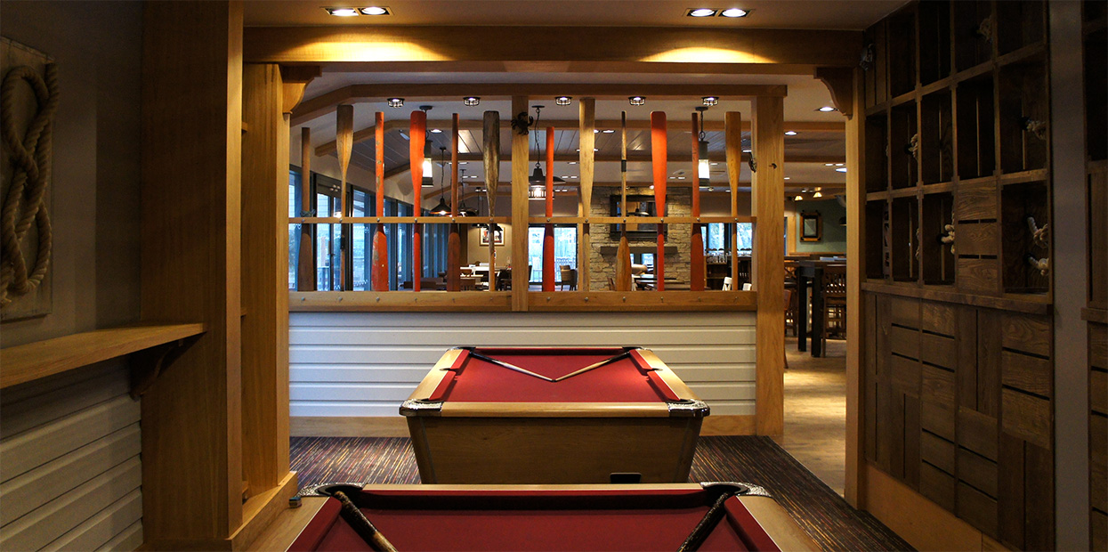 Interior shot of The Boatie Blest