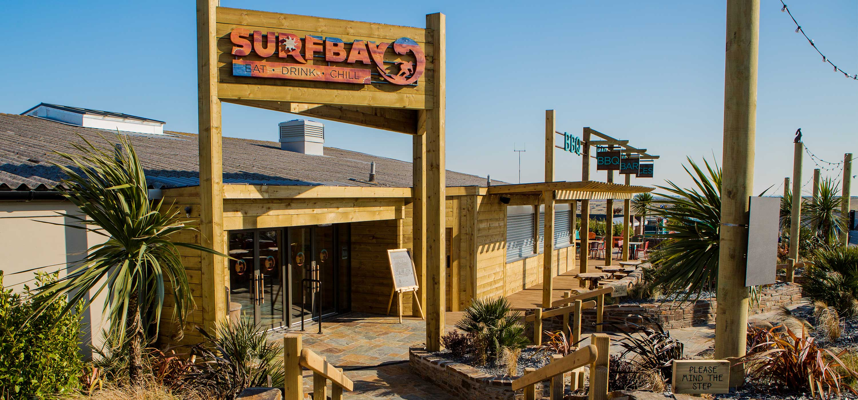 Exterior shot of Surfbay