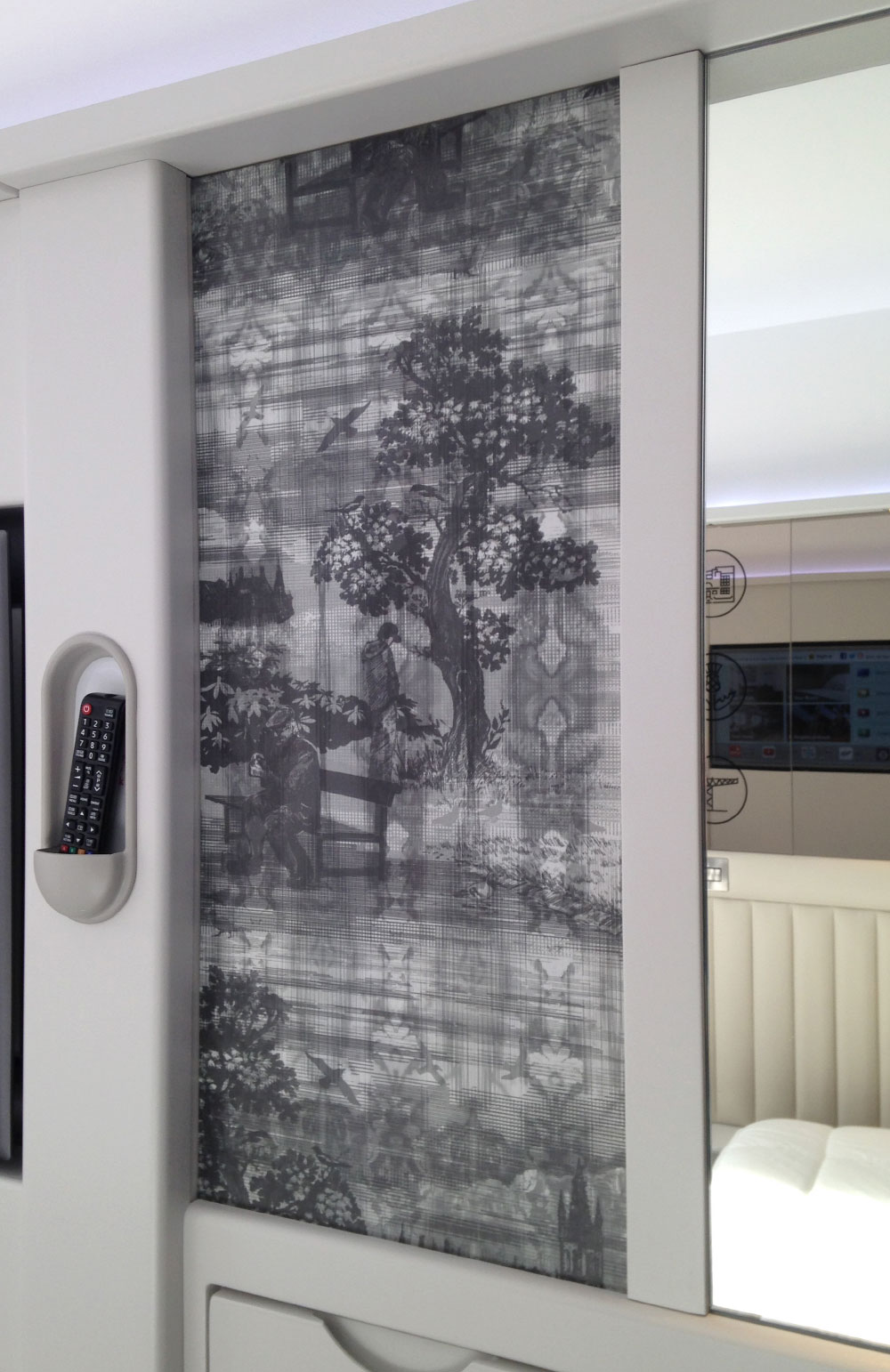 Bedroom feature artwork panel