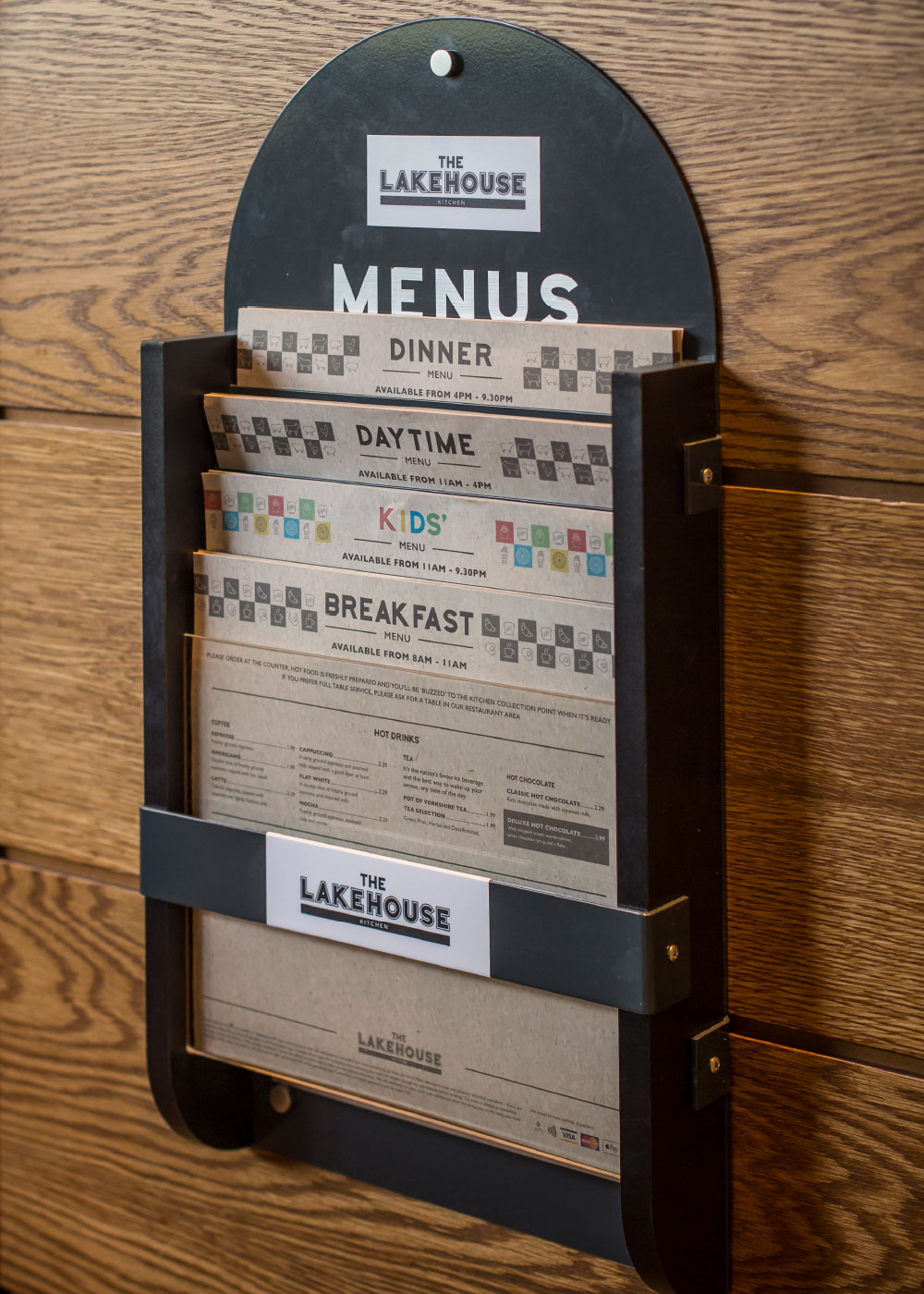 Menus and holder in The Lakehouse